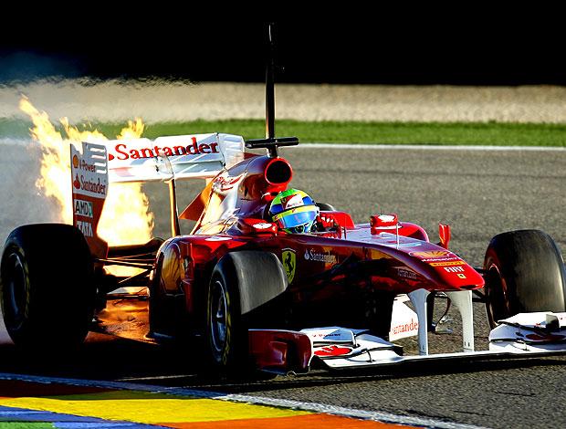 """Massa e seu """"foguete vermelho"""""""