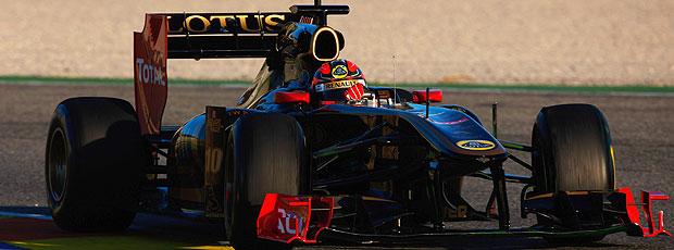 Kubica levou o seu Lotus Renault ao primeiro lugar