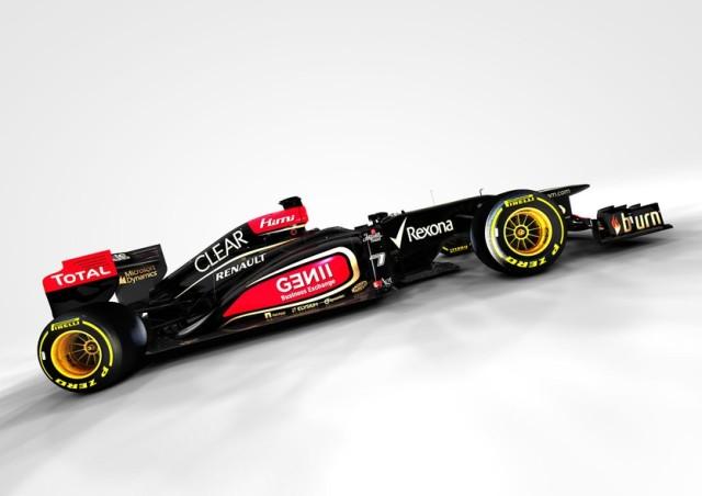O novo carro da Lotus, com detalhes em vermelho