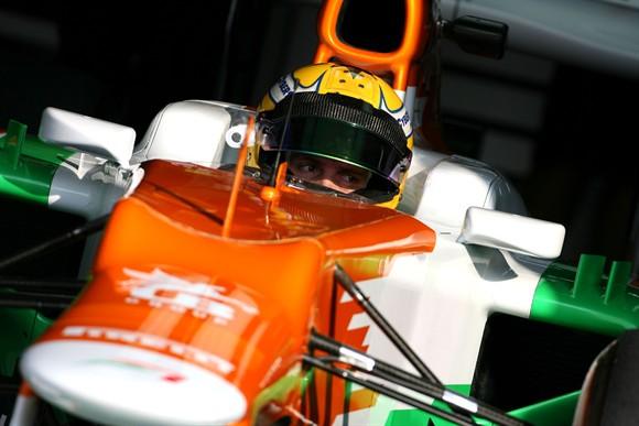 Razia testando pela Force India ano passado
