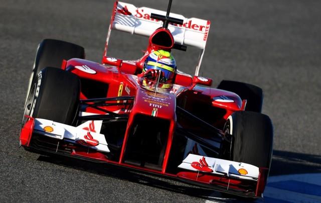 Felipe Massa com o F138. O brasileiro ficou em sexto lugar.